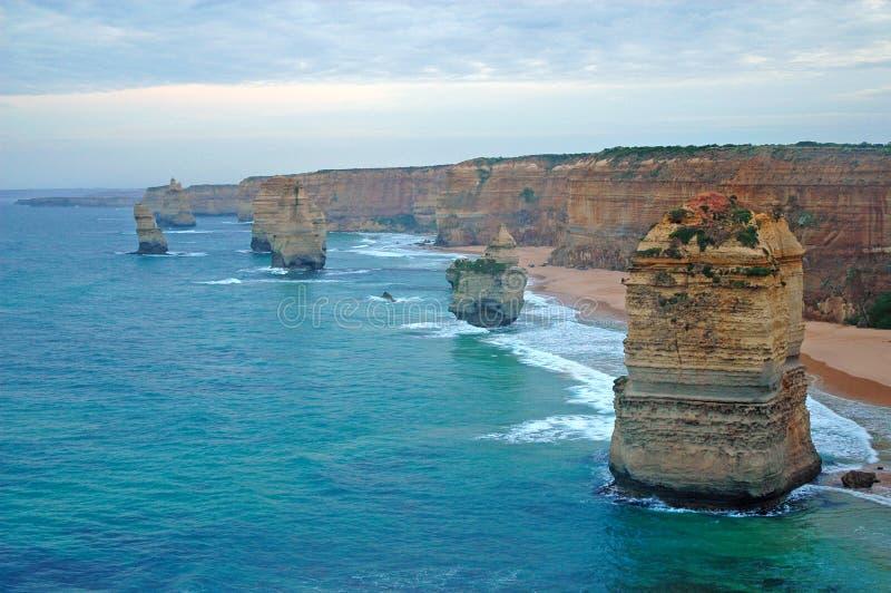 Twaalf Apostelen, Victoria, Australië stock afbeeldingen