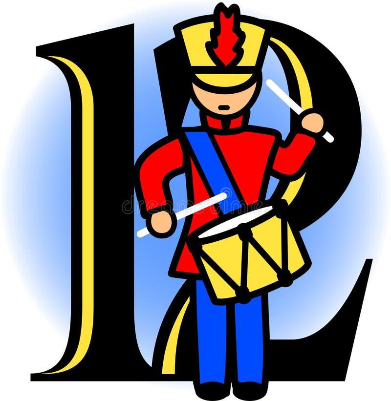 Twaalf het Trommelen van Slagwerkers/eps royalty-vrije illustratie