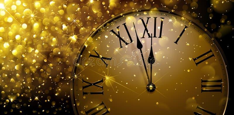 Twaalf o-Klok op Nieuwjaars Vooravond royalty-vrije illustratie