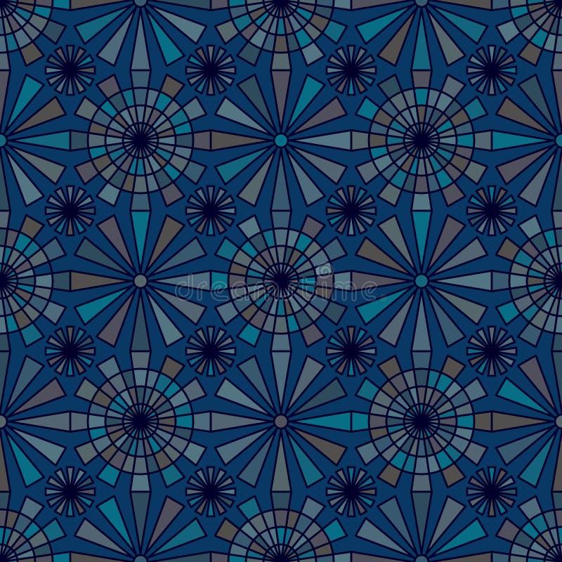 Twaalf straal kleurrijk naadloos patroon stock illustratie