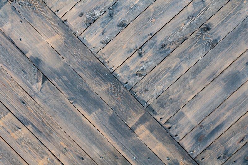 Twardego drzewa czarny drewniany ogrodzenie Tło, tekstura obraz royalty free