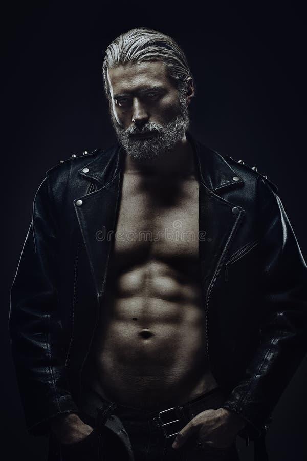Twardy w średnim wieku mężczyzna zdjęcie stock