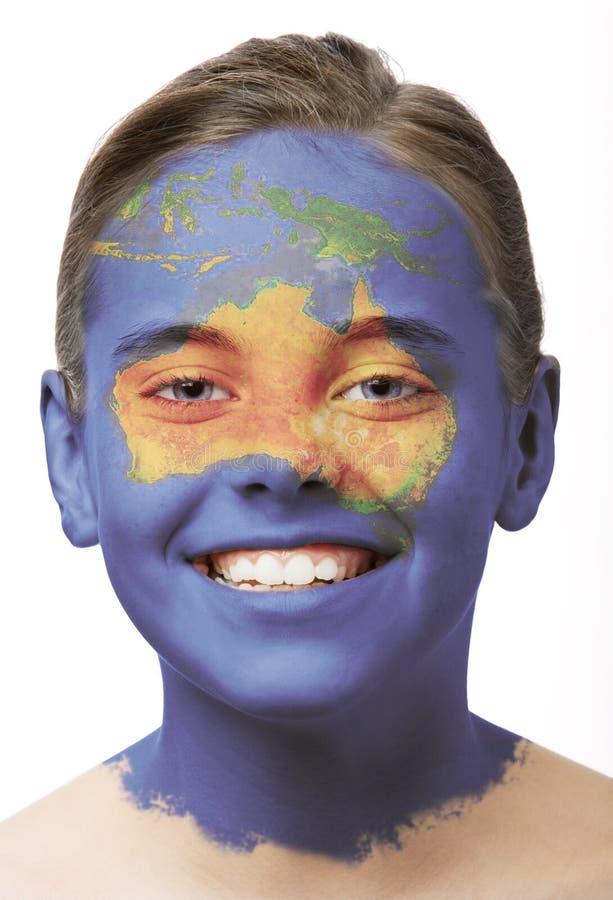 twarzą do farby australii obrazy stock