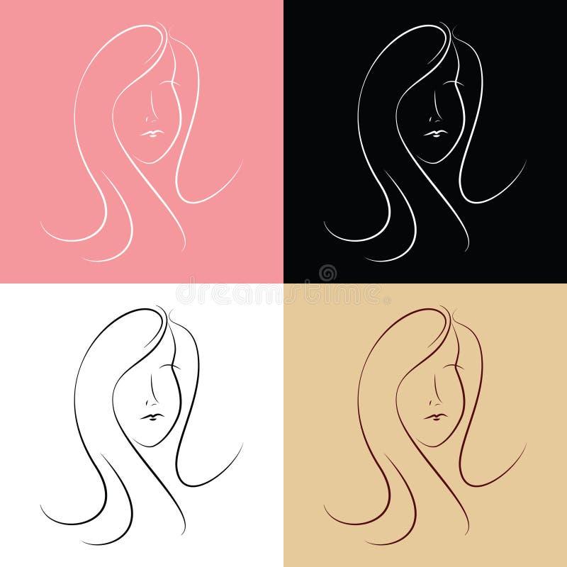Twarz ładny kobieta logo zdjęcie royalty free