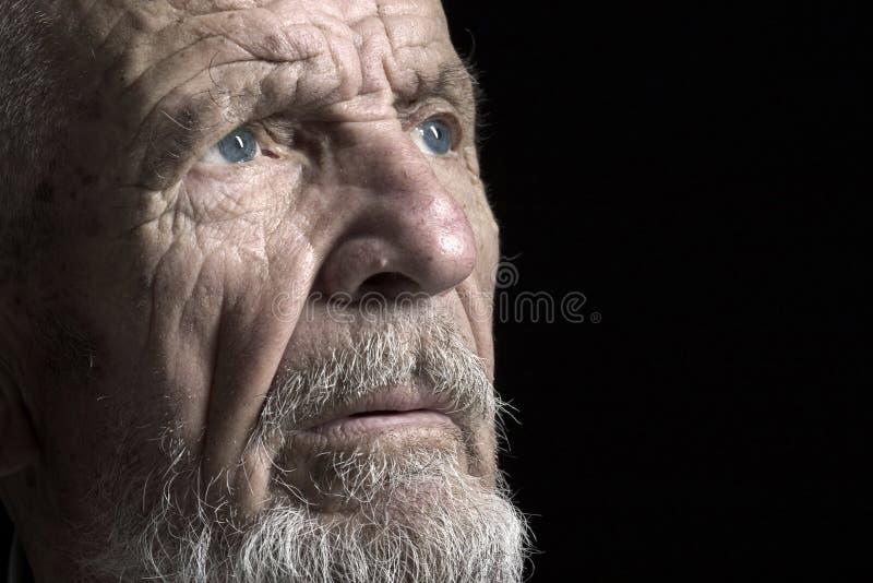twarz 1 starszy strzelać zdjęcia stock