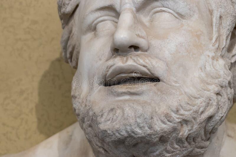 Twarz antyczna brodata statua zdjęcie royalty free