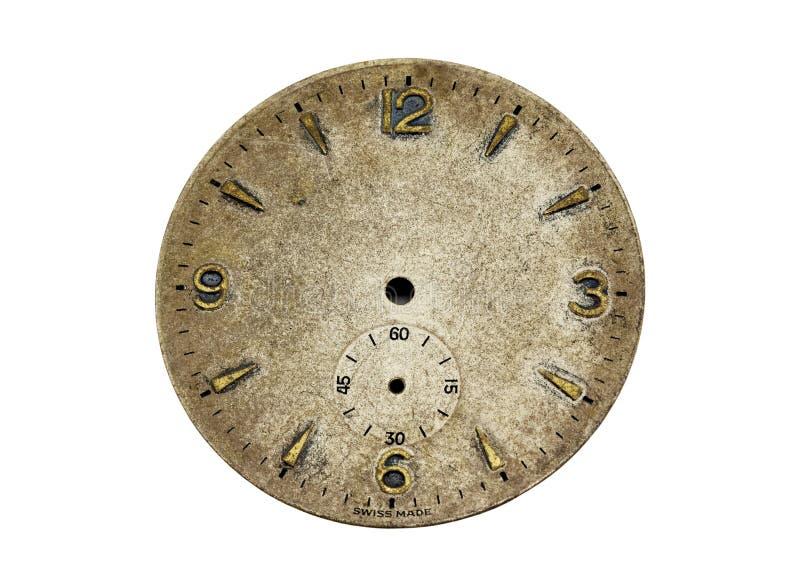 twarz antykwarski zegarek zdjęcie royalty free