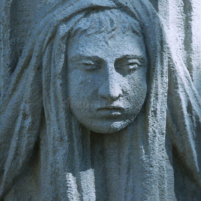 Twarz bogini Hera antyczna statua obraz royalty free