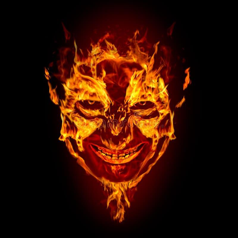 twarz czarci ogień ilustracja wektor