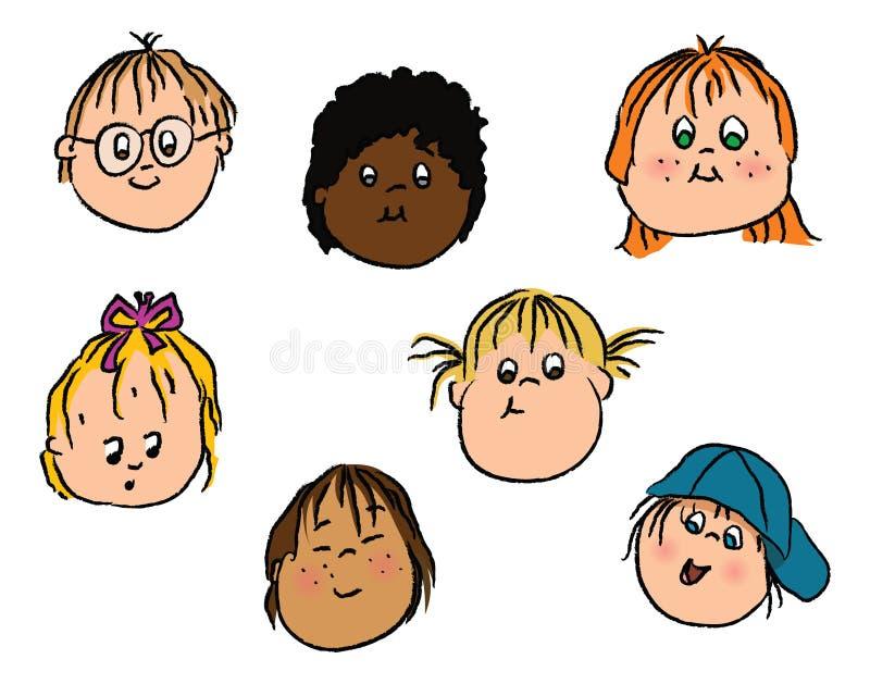 twarz dzieciaki ilustracja wektor