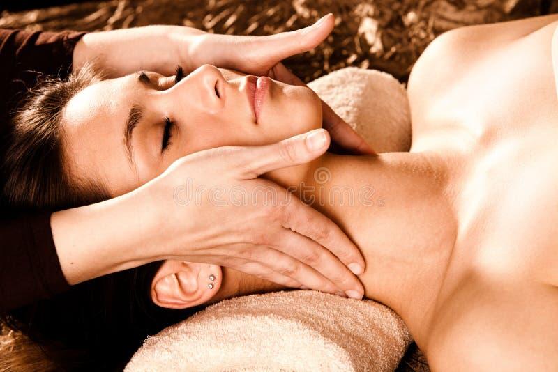 Twarz fachowy masaż zdjęcia royalty free