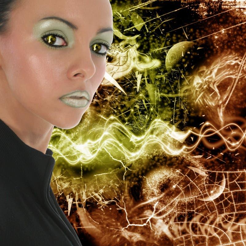 twarz futurystyczna ilustracji
