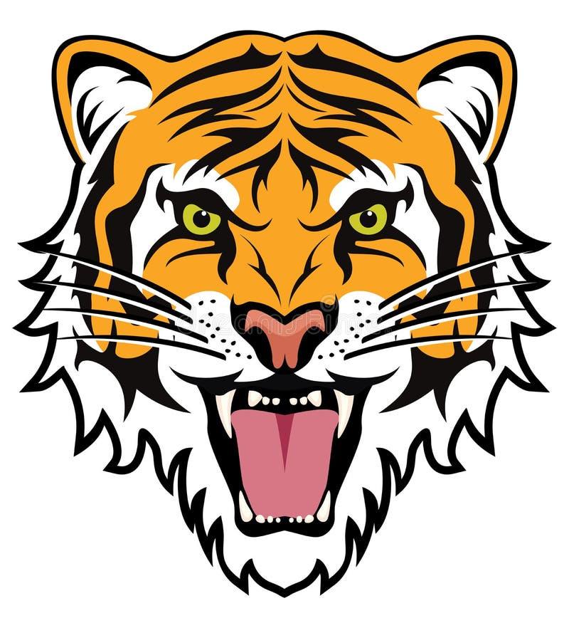 Twarz gniewny tygrys royalty ilustracja