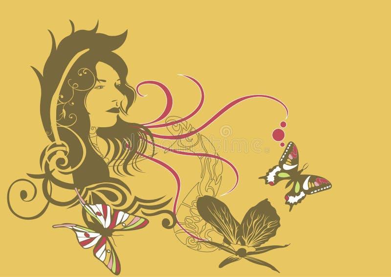 twarz jest kobieta royalty ilustracja