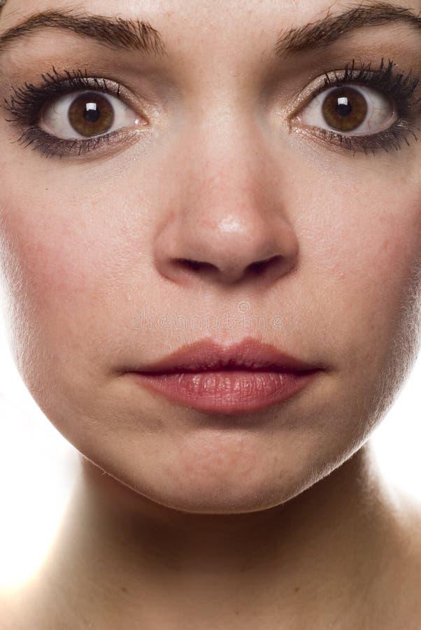 twarz jest kobieta fotografia stock