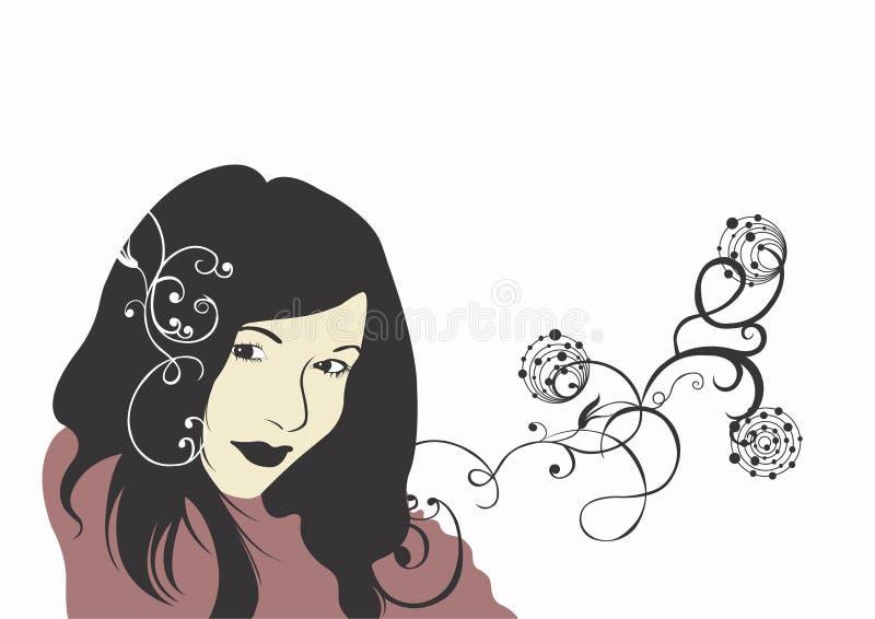 twarz jest kobieta ilustracja wektor