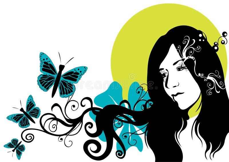 twarz jest kobieta ilustracji