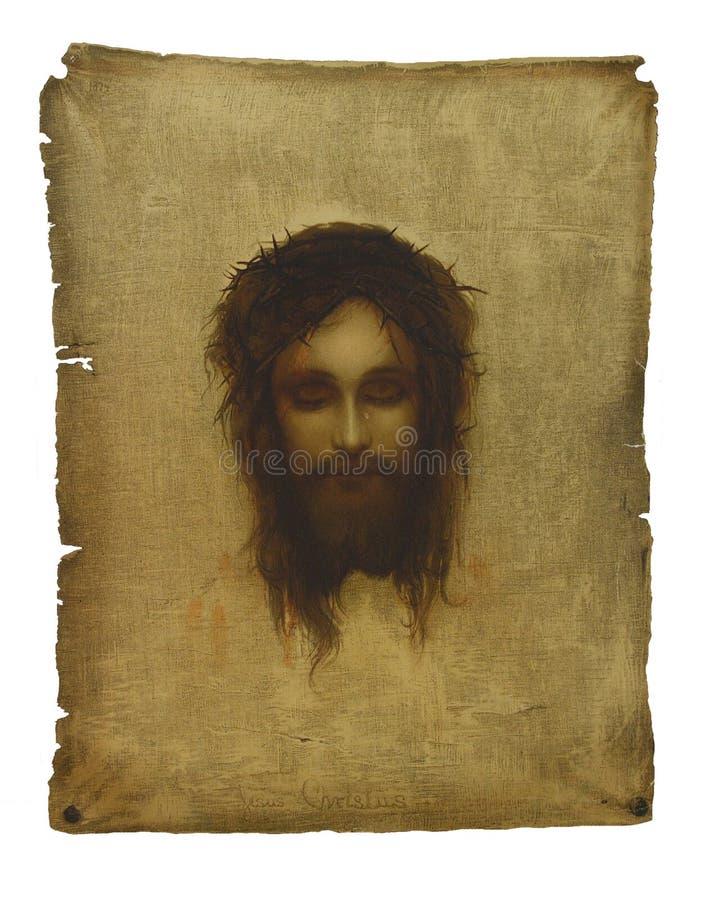 twarz Jesus zdjęcie stock