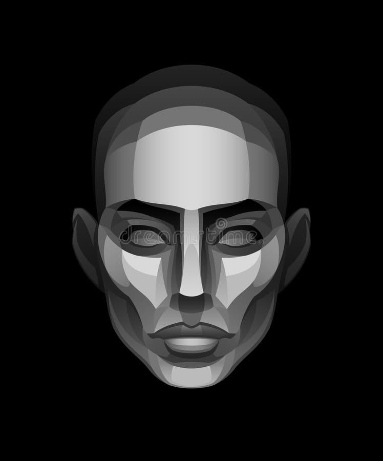 twarz kamień ilustracji