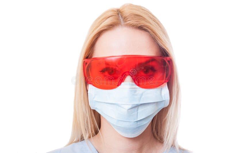 Twarz kobieta dentysty lekarka zdjęcia royalty free