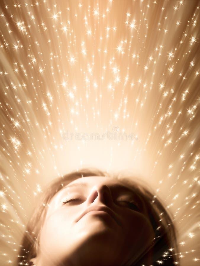 twarz kobiety sypialna zdjęcia royalty free