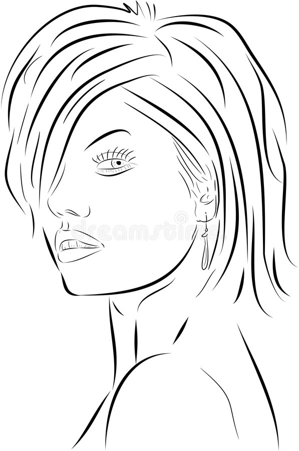 twarz kobiety wektora royalty ilustracja
