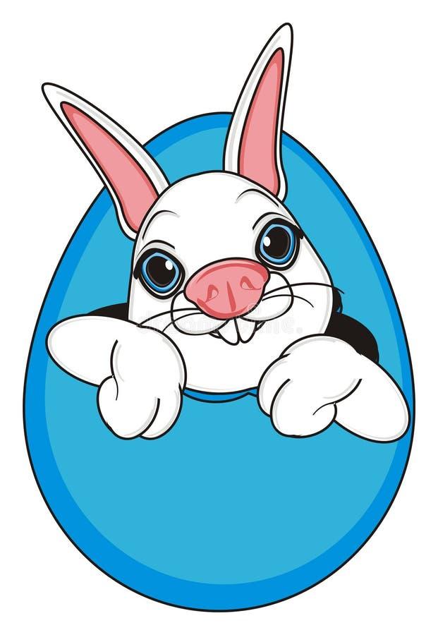 Twarz królika zerknięcie up od jajka ilustracji
