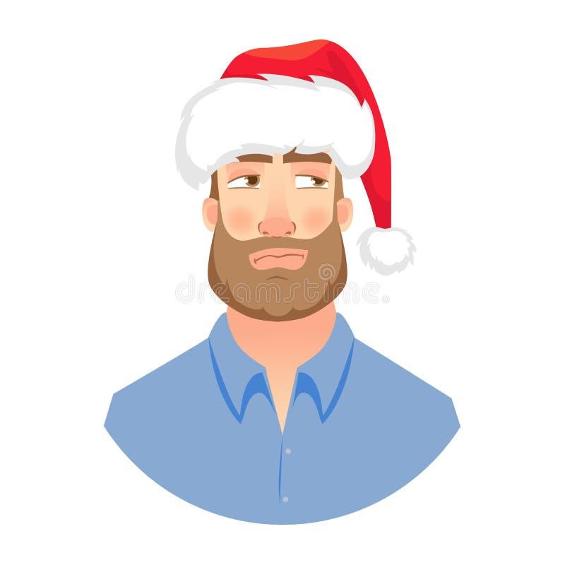 Twarz mężczyzna z brodą ilustracji