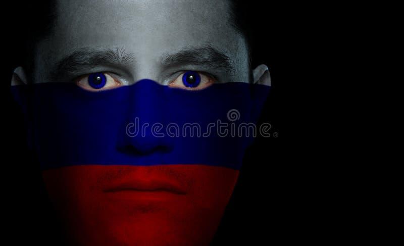 twarz męski bandery rusek zdjęcie royalty free
