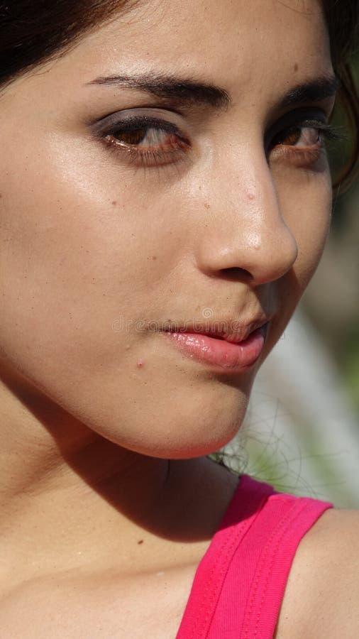Twarz Młoda Latina Dorosła kobieta obrazy royalty free