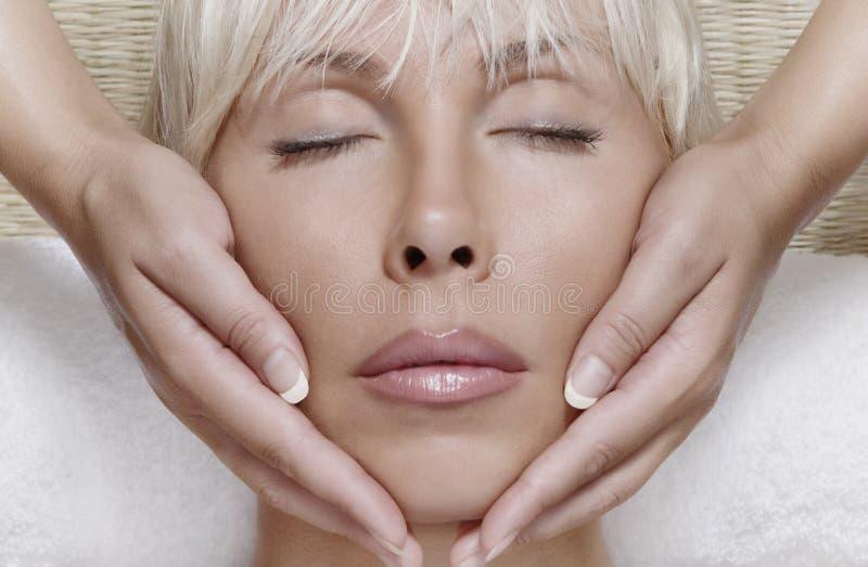 twarz masaż obraz stock
