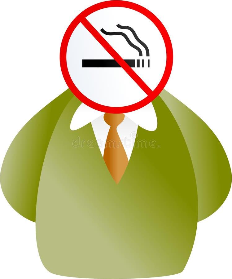 twarz nie palić ilustracja wektor