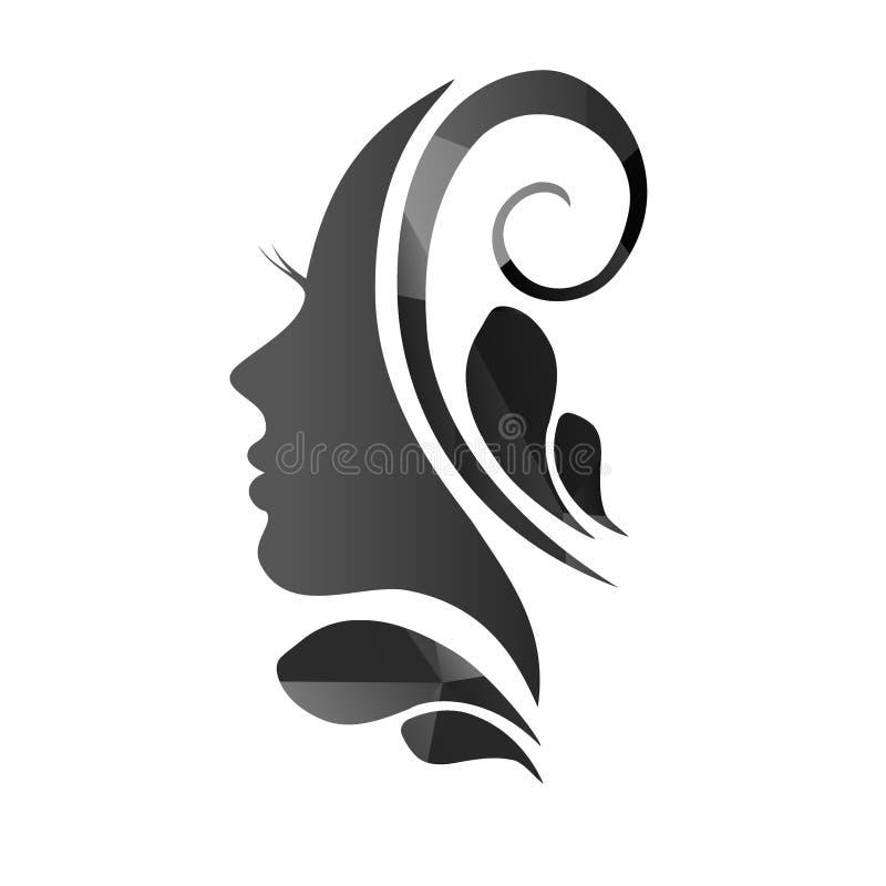 Twarz piękny kobiety ` s profil royalty ilustracja