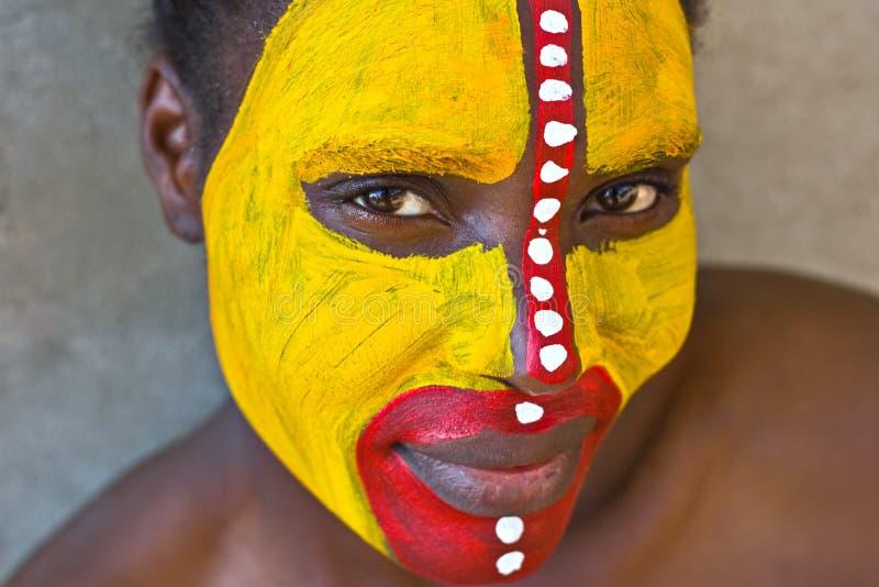 twarz plemienna zdjęcia stock