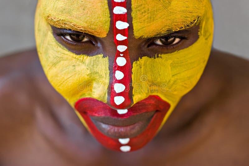 twarz plemienna zdjęcie stock