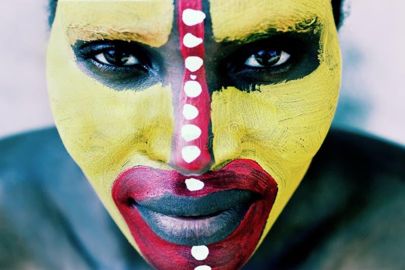twarz plemienna obrazy royalty free