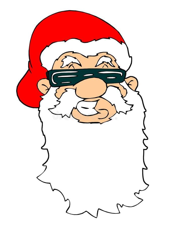 twarz Santa ilustracja wektor