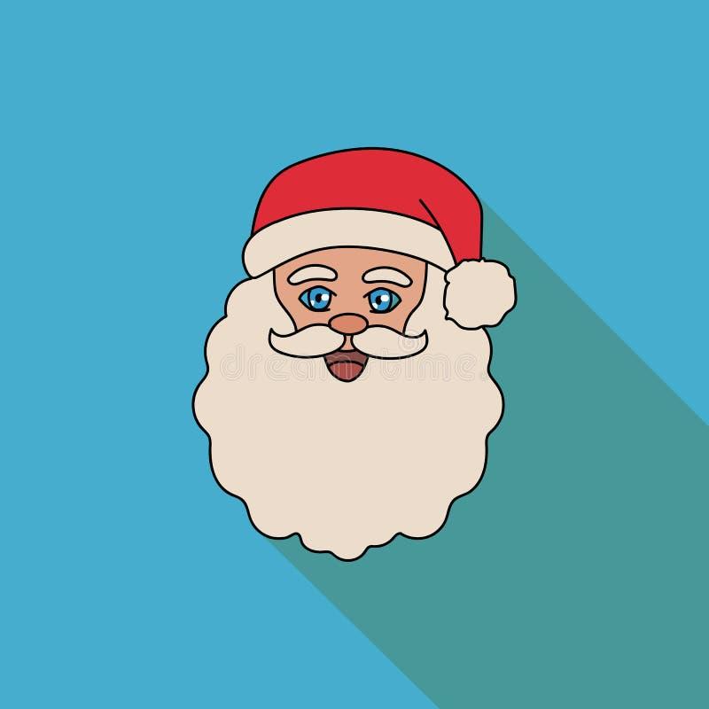 Twarz Santa Claus na błękitnym tle ilustracji