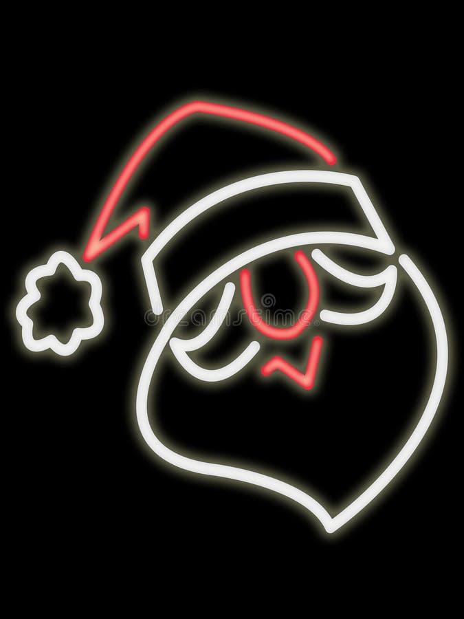 twarz Santa neon royalty ilustracja