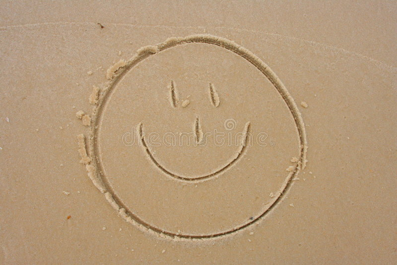 twarz smiley piasku. obrazy royalty free