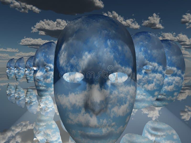 twarz surrealistyczna ilustracji