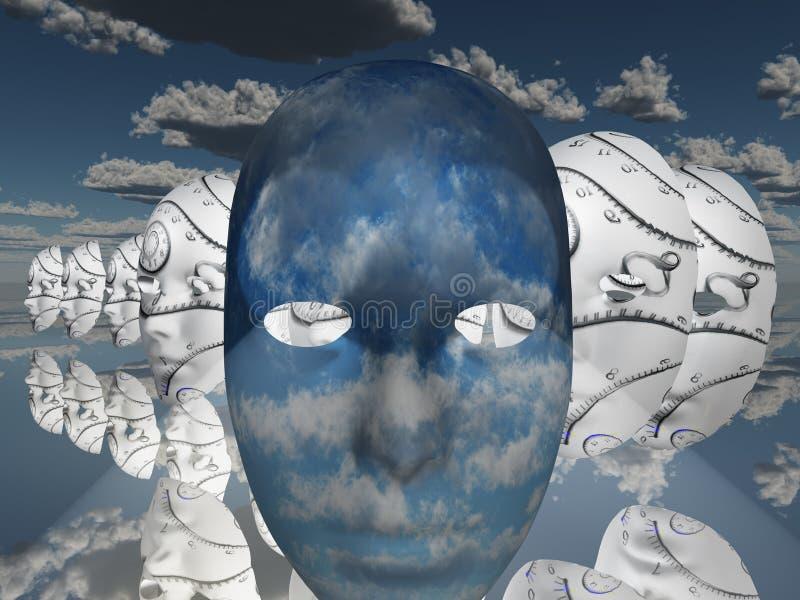 twarz surrealistyczna ilustracja wektor