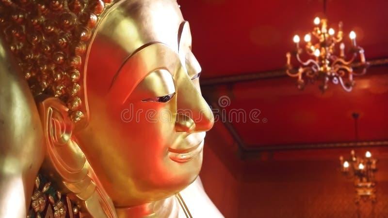 Twarz TARGET292_0_ Buddha statuę zdjęcia royalty free