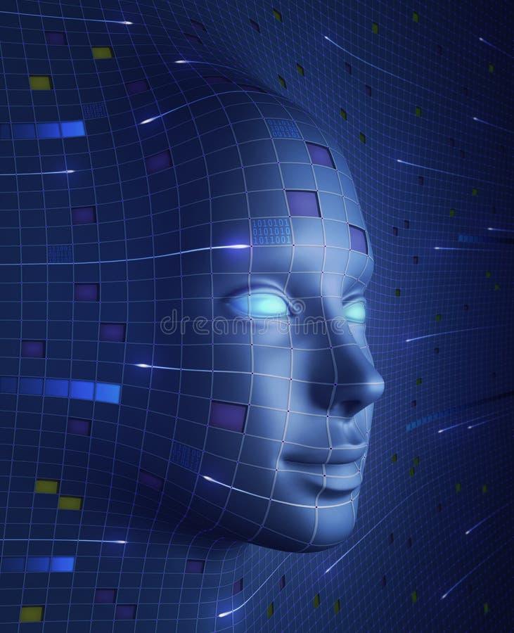 Twarz Technologia royalty ilustracja