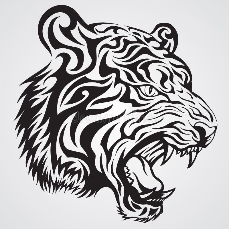 twarz tygrys royalty ilustracja