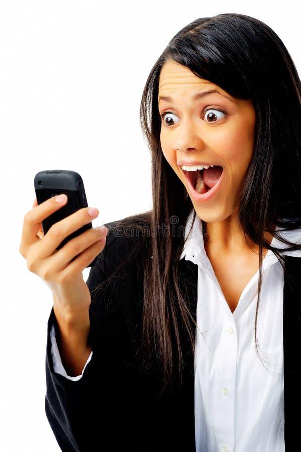 twarz wyrażeniowy telefon zdjęcia stock