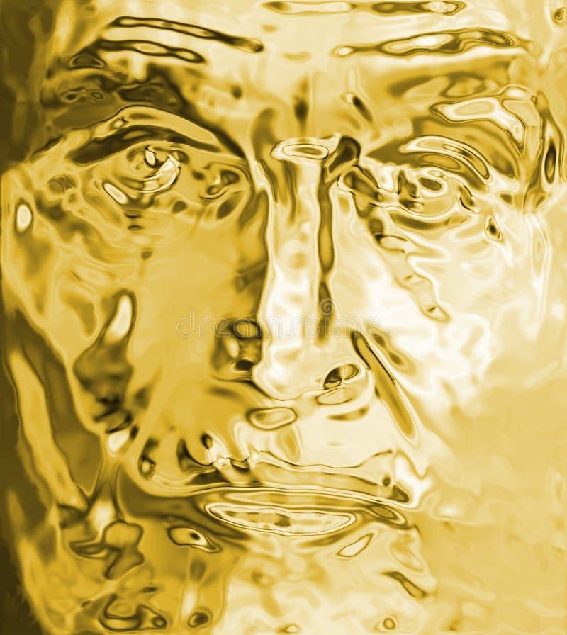 twarz złota ilustracja wektor