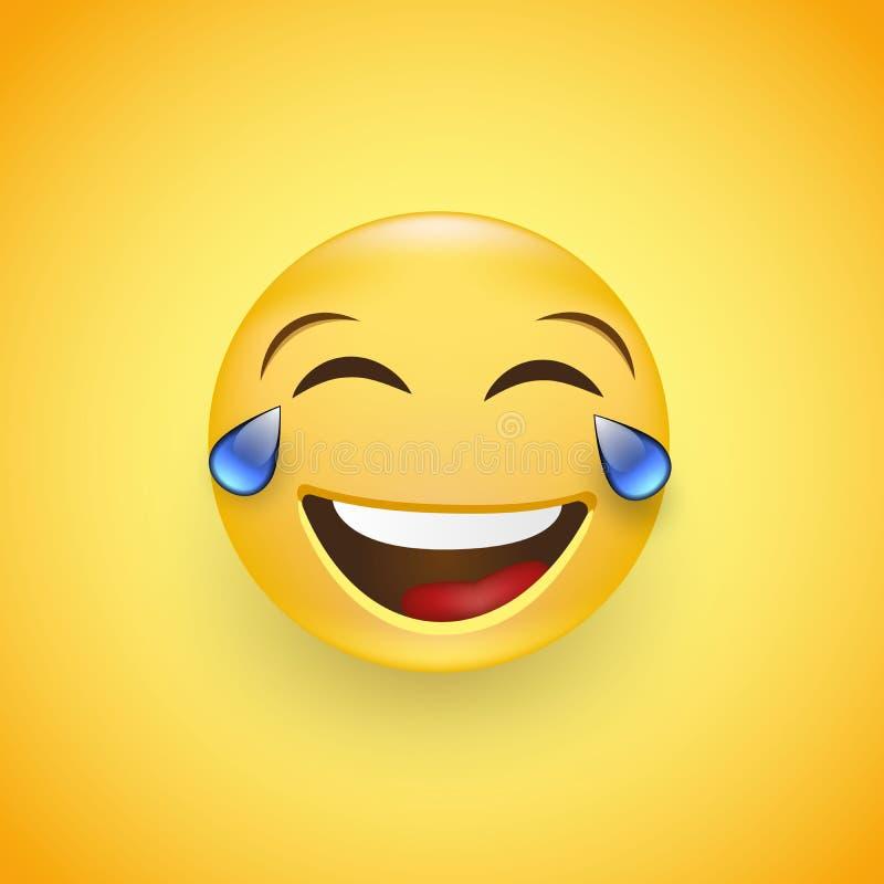 Twarz z łzami radości emoji Śmiać się łzy Od Kwietnia 1 wektor ilustracji