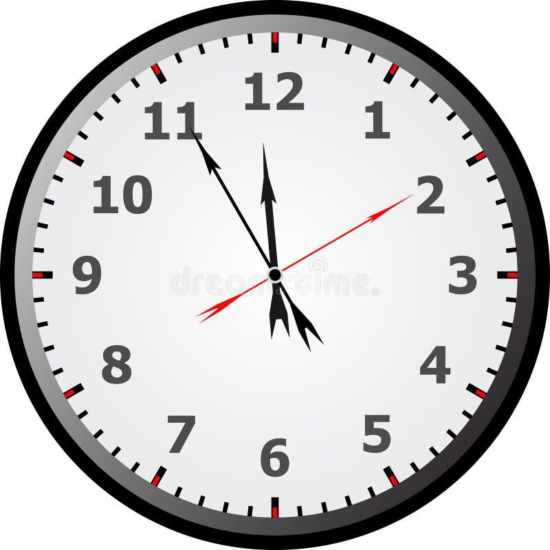 twarz zegara ilustracja wektor