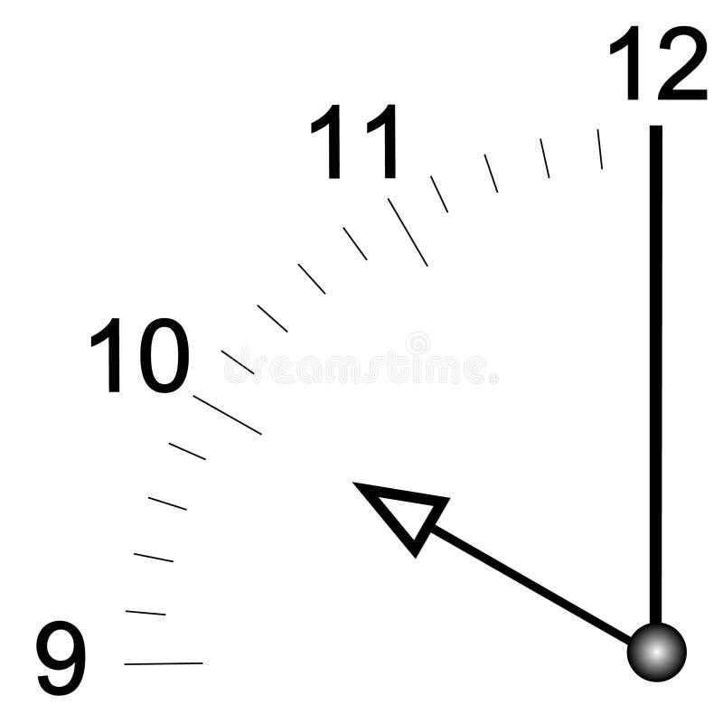 twarz zegara o ustala się 10 ilustracji
